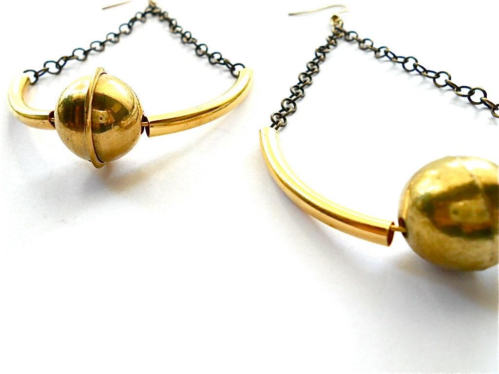 Kabul Brass Earrings