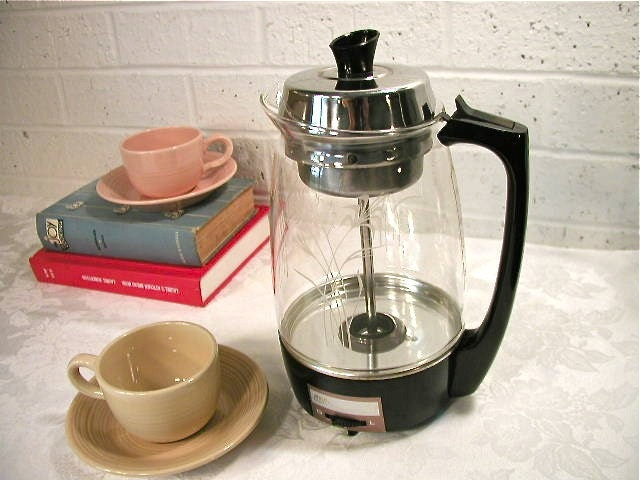 Vintage SCM Proctor Silex Electric Glass Percolator by Bluebell