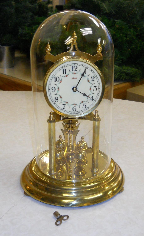 Anniversary Clock 1952 Kundo Brass West By Obrienwhatnotshoppe