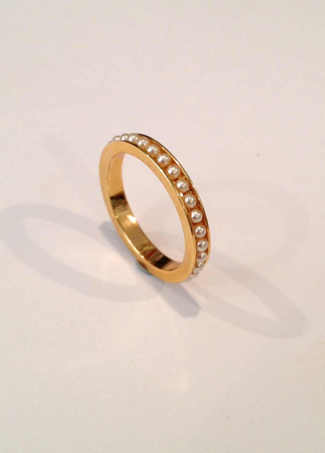 vintage pearl eternity estate jewelry ring by