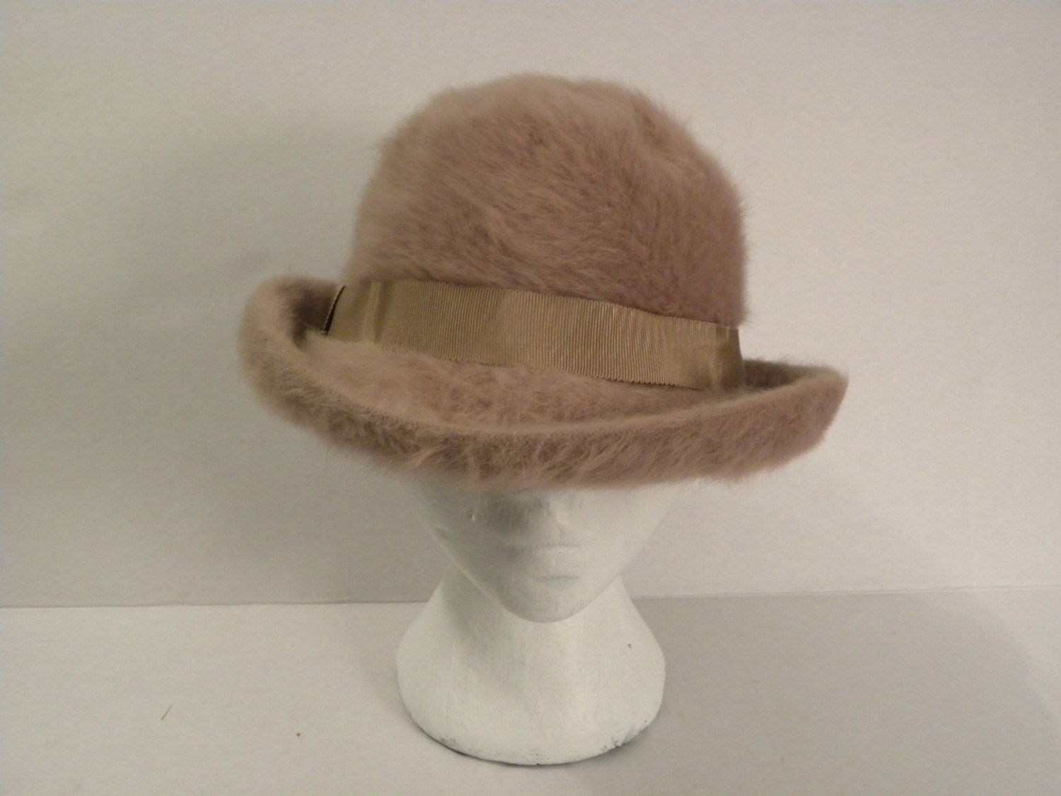 SOLD-1970's Fuzzy Fedora - KaysCuriosities