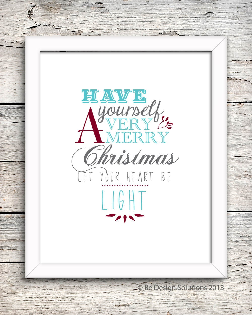 A4 Christmas Wall Art  - Printable