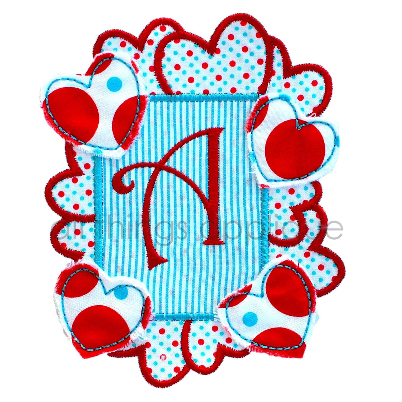 Heart frame patch valentine applique design by for Appliques exterieures design