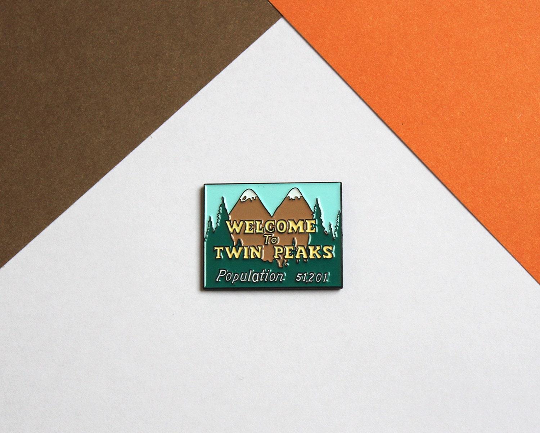 Welcome To Twin Peaks soft enamel lapel pin