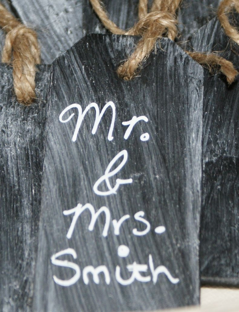 set of 10 chalkboard tags FREE SHIPPING, wedding, party, thank you, goodie bags, favors