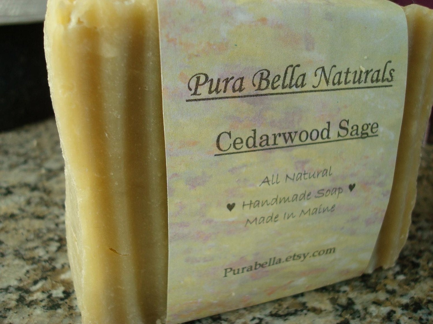 Cedarwood and Sage Hot Process Handmade Soap Made in Maine