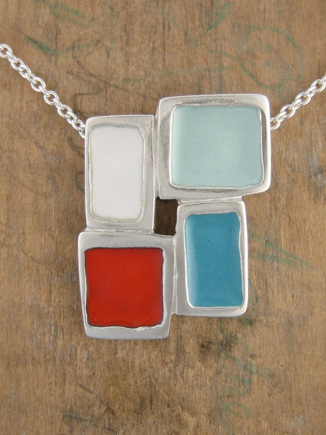Puremodern Foursquare Necklace - Summer Colors