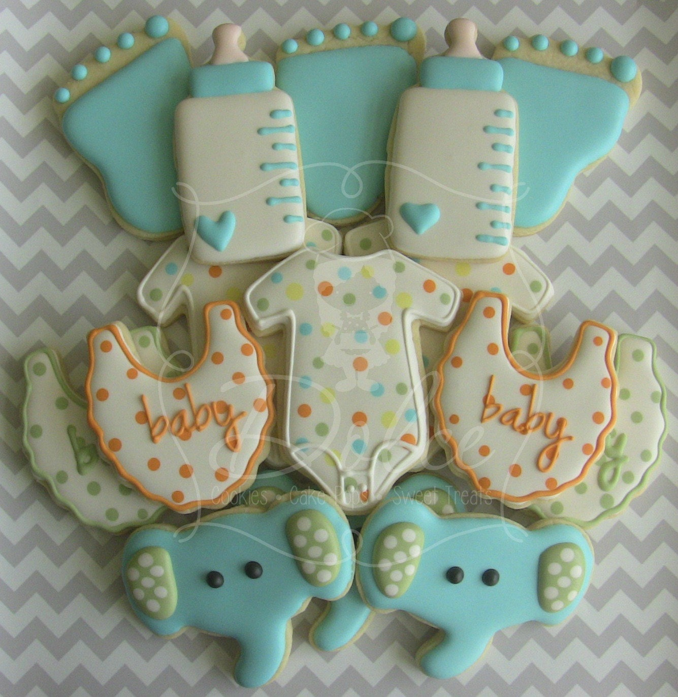 one dozen 12 welcome baby baby shower decorated sugar cookies