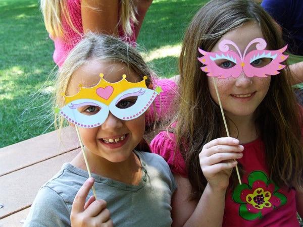 printable birthday masks