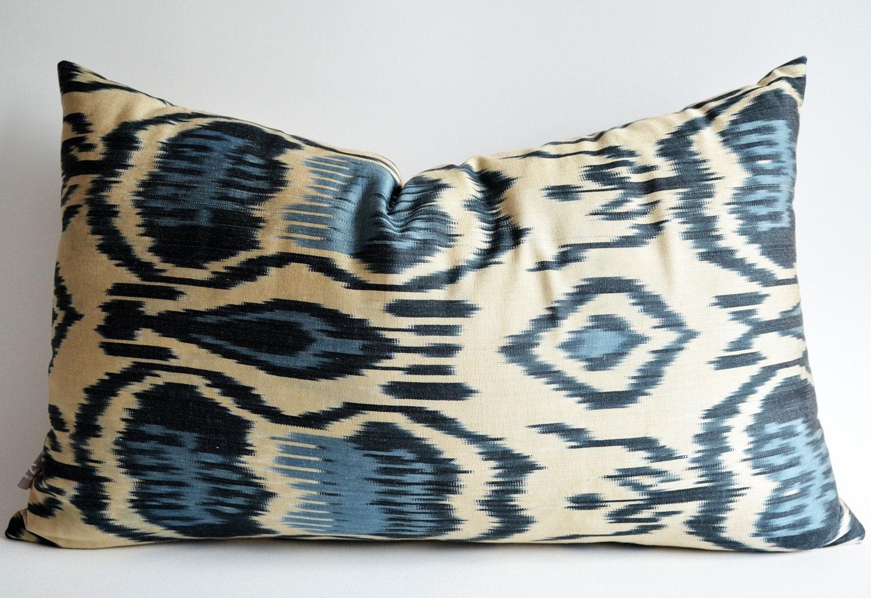 Sukan / Hand Woven Original Organic ikat - lumbar Ikat Pillow cover- decorative pillow covers - throw pillows - accent pillow
