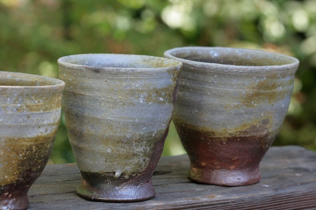 Woodfired tumblers, glowing embers