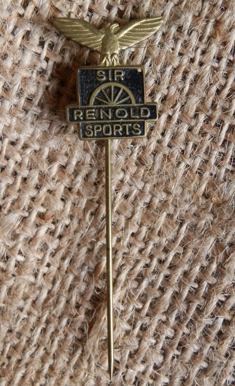 Vintage 1960s RENOLD SPORTS Bicycle  Metal Advertising Stick Pin Badge  Lapel Pin
