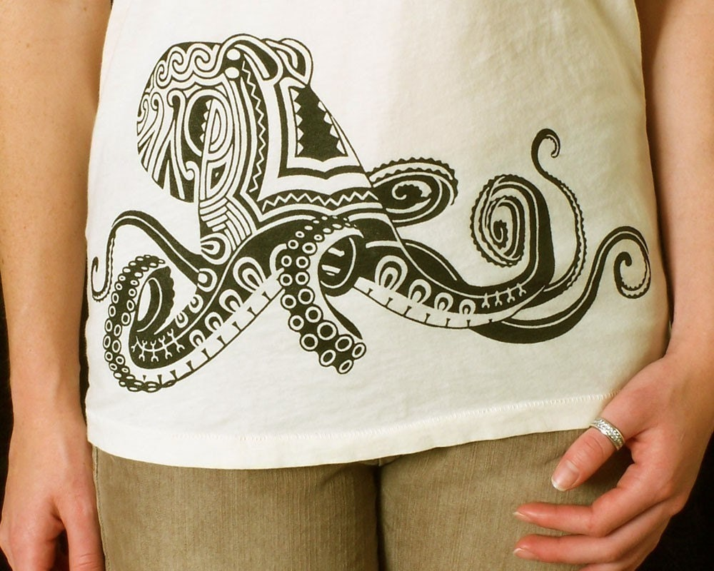 Tattoo Octopus T-shirt on