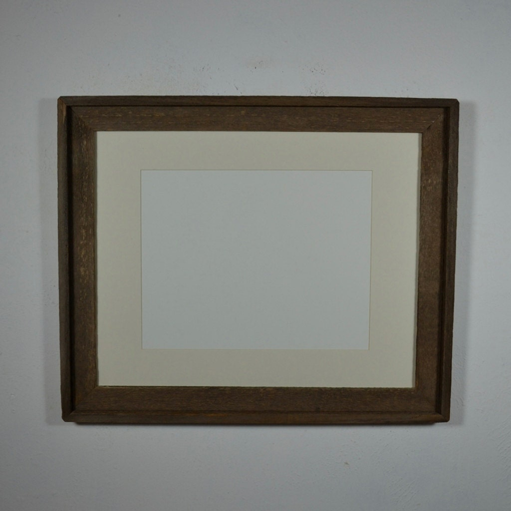 16x20 Photo Frame Barnwood With Off White 11x14 Mat By