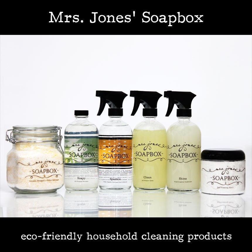 Eco-Friendly Household Cleaning Kit and Laundry Detergent