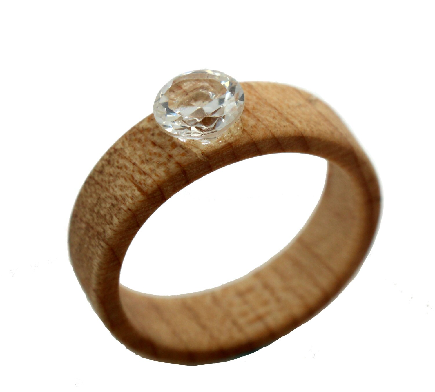 5mm sapphire wooden engagement ring by woodenweddingrings
