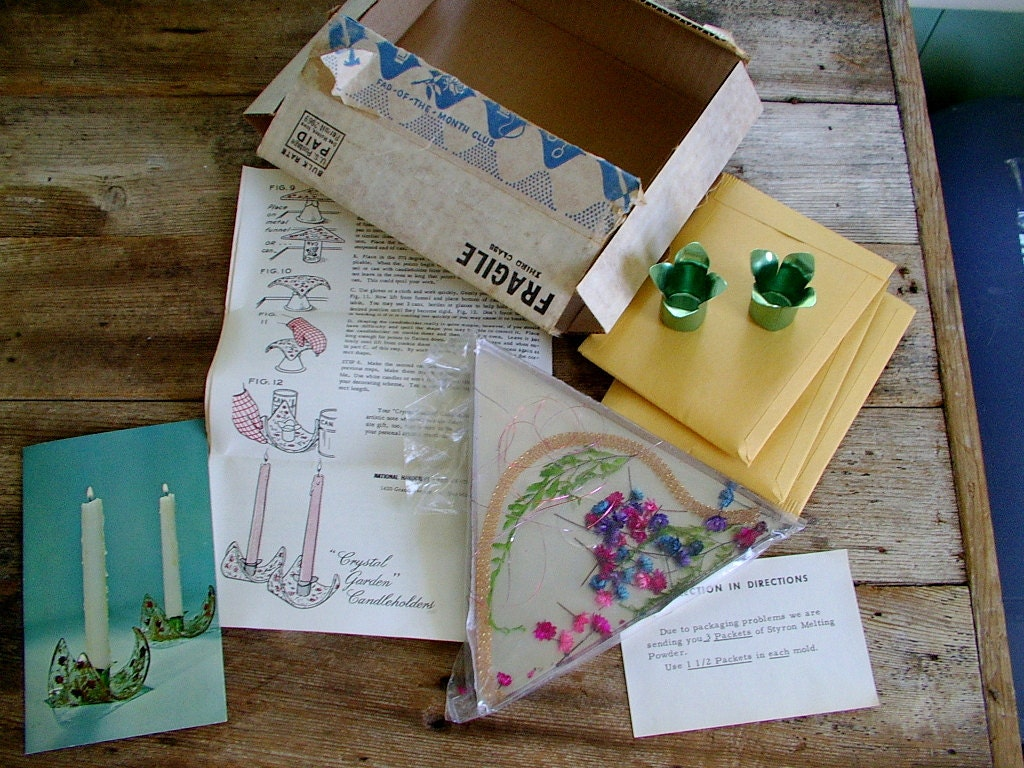 1960s craft kit fad of the month club crystal by for Craft of the month club