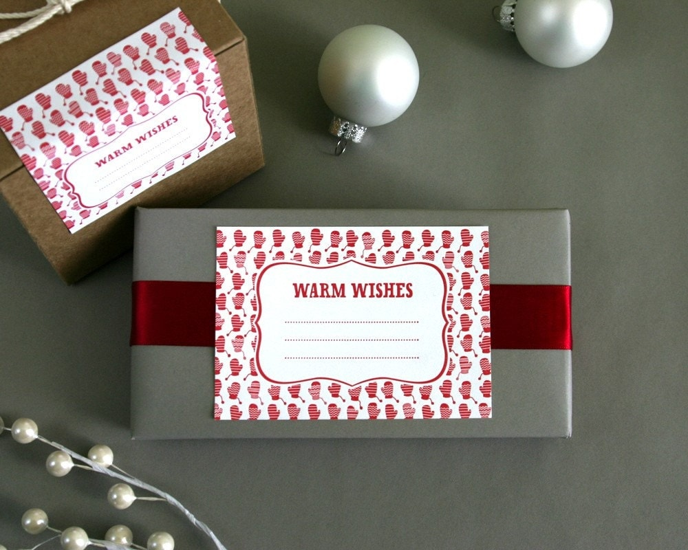 Warm Wishes - set of 10 letterpress gift labels