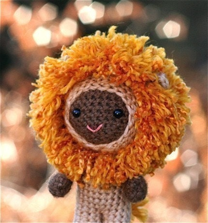 Crochet Pattern- Marcus the lion boy amigurumi doll