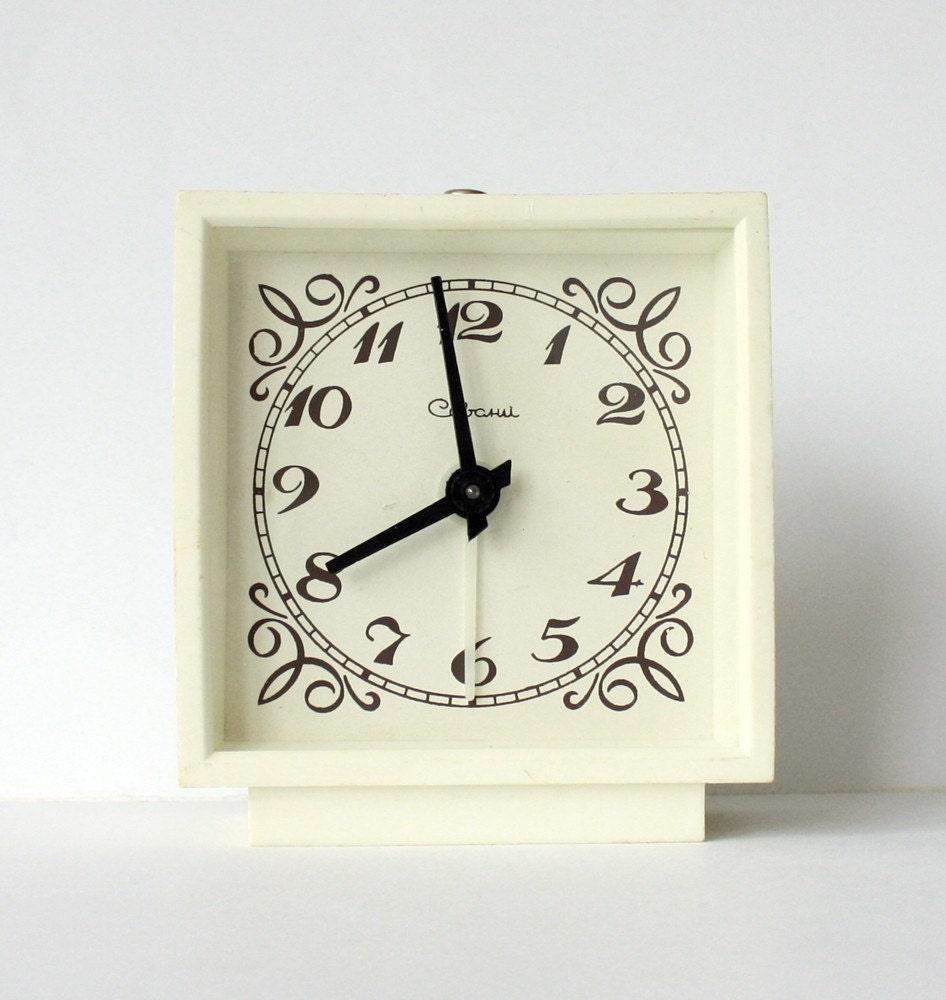 Vintage mechanical alarm clock Sevani from Armenia Soviet Union period
