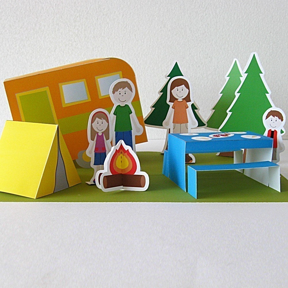 Printable Paper Camping Set - neskita