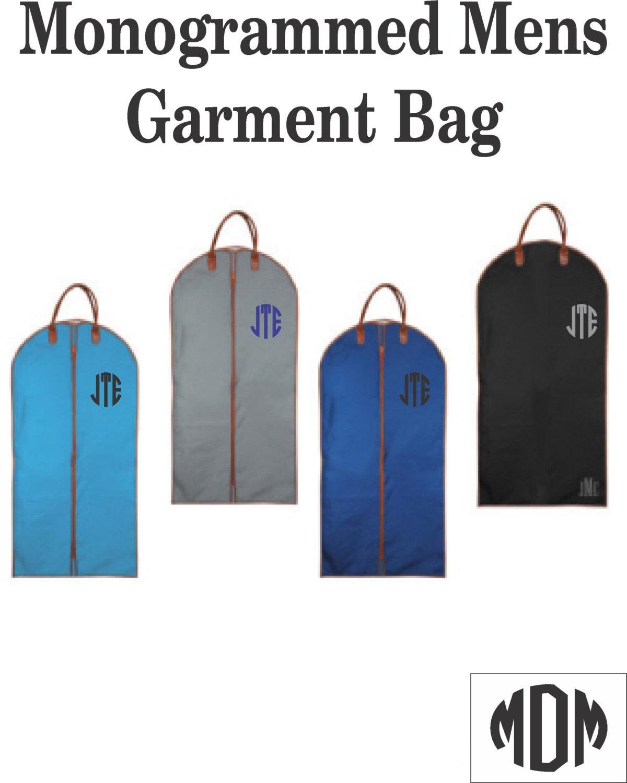 monogrammed mens garment bag    mens suit bag    by marshmallowdream