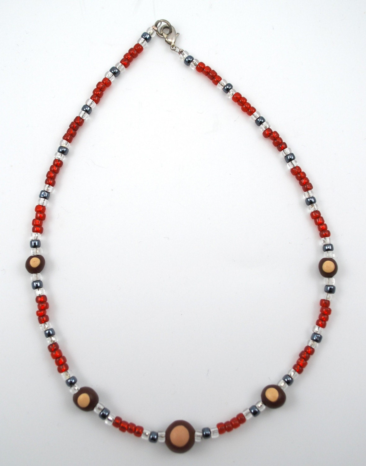 items similar to ohio state buckeye glass bead necklace on