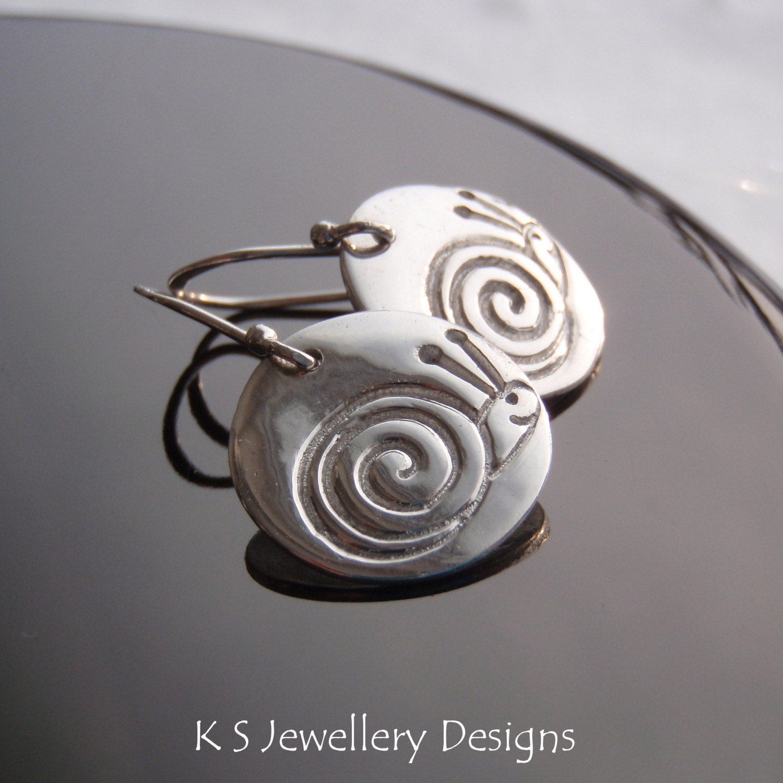 SNAILS - Fine Silver Textured Disc Earrings