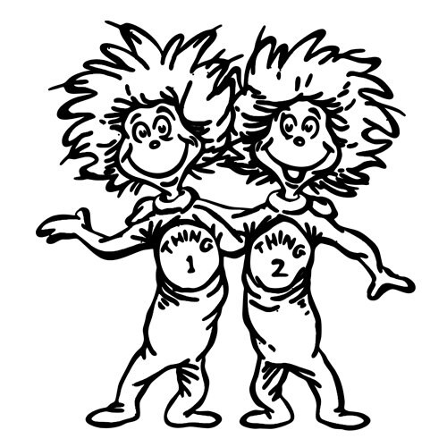 thing 1 and thing 2 coloring pages dr seuss - unavailable listing on etsy
