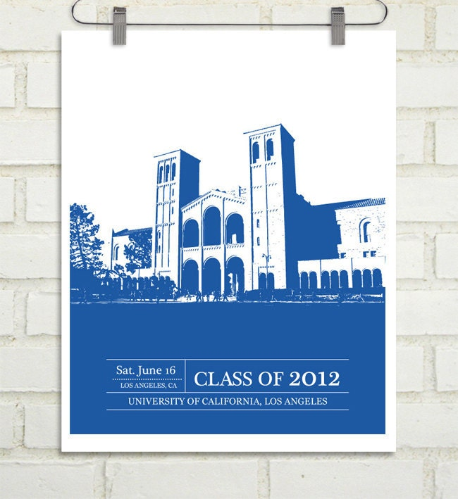 Graduation Gift - Gift for Grad - Use your University or College - 8x10 / School Colors - Father's Day Alumni