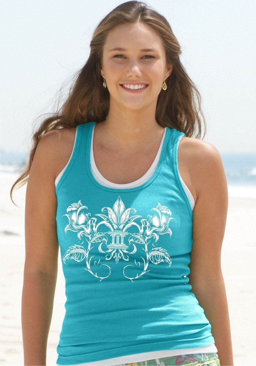Fleur de Rose on Womens American Apparel Tank