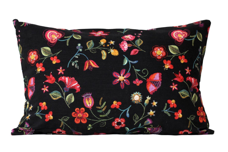 Scandinavian Pillow Cases : Pillow Case 60 x 40cm Black Color Cushion Cotton by OscarLindModin