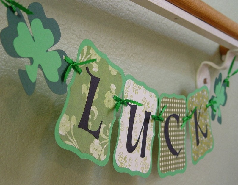 LUCK Banner/Garland for St. Patrick's Day, B