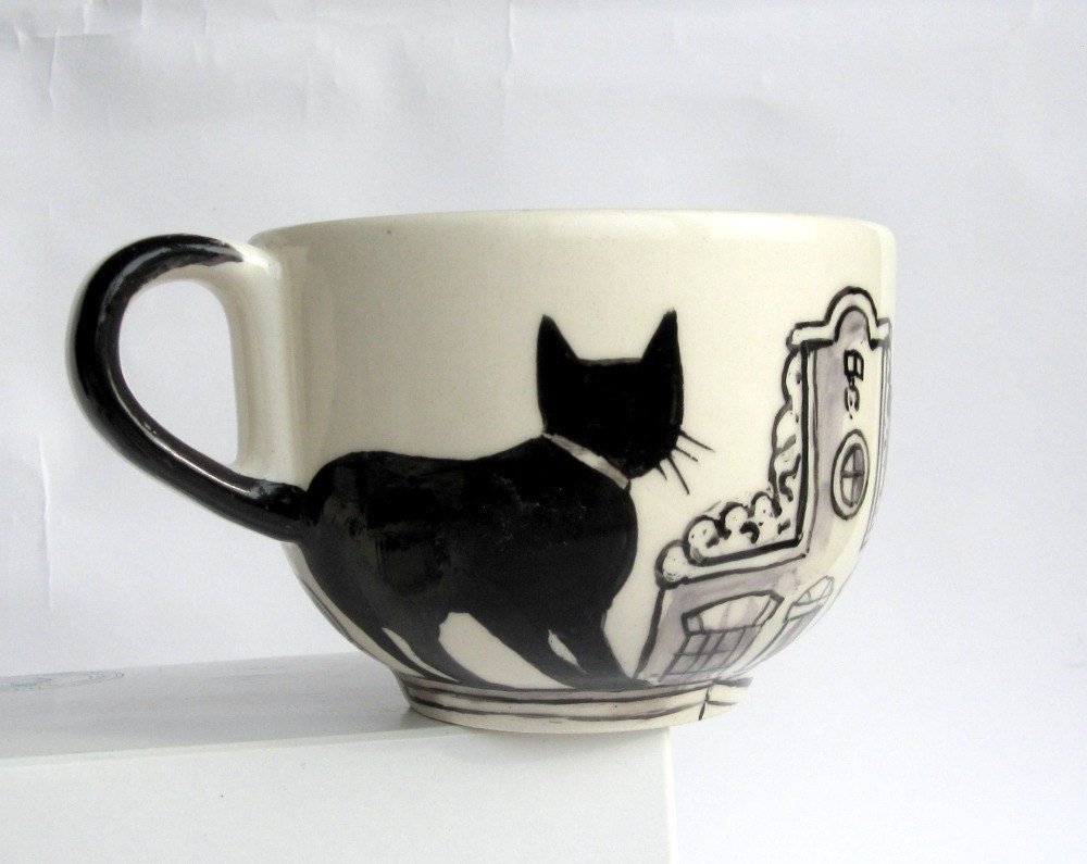 Amsterdam cats -  Big Handpainted Mug