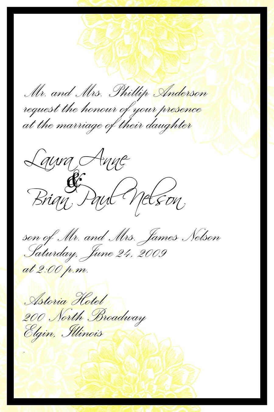 Wedding Invitation Matter - jamblog