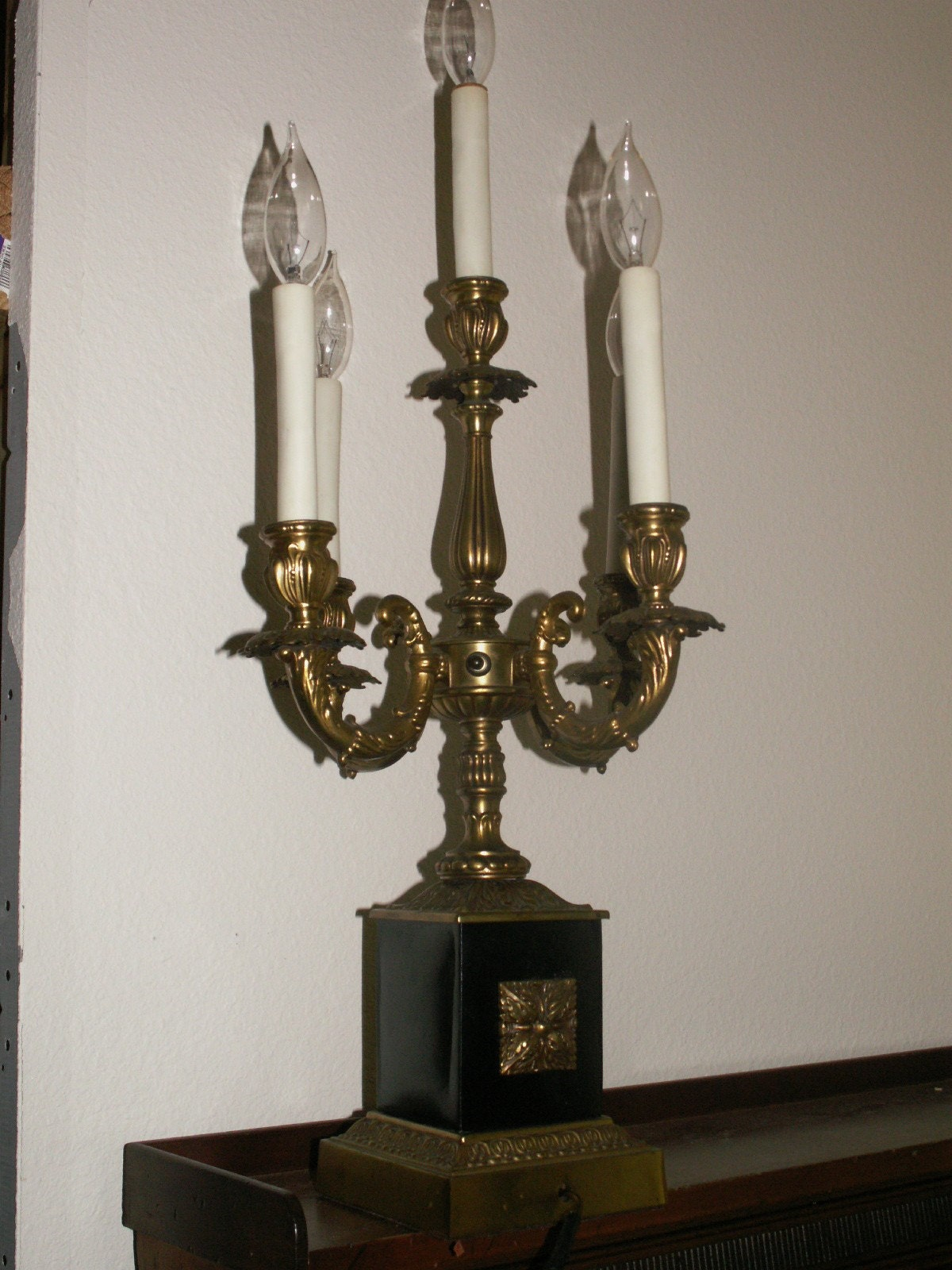 5 Arm Candelabra Table Lamp By Thesagescottie On Etsy