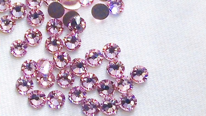 light rose 12ss swarovski elements rhinestones 2058 flat