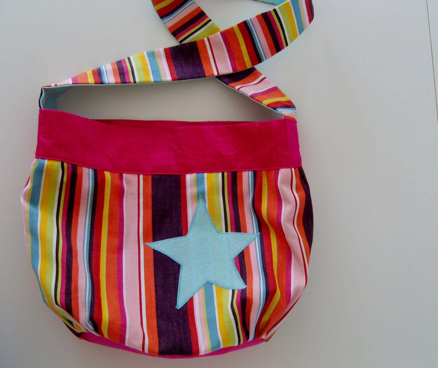 Large Hobo shoulder bag in rainbow color - Bohemian