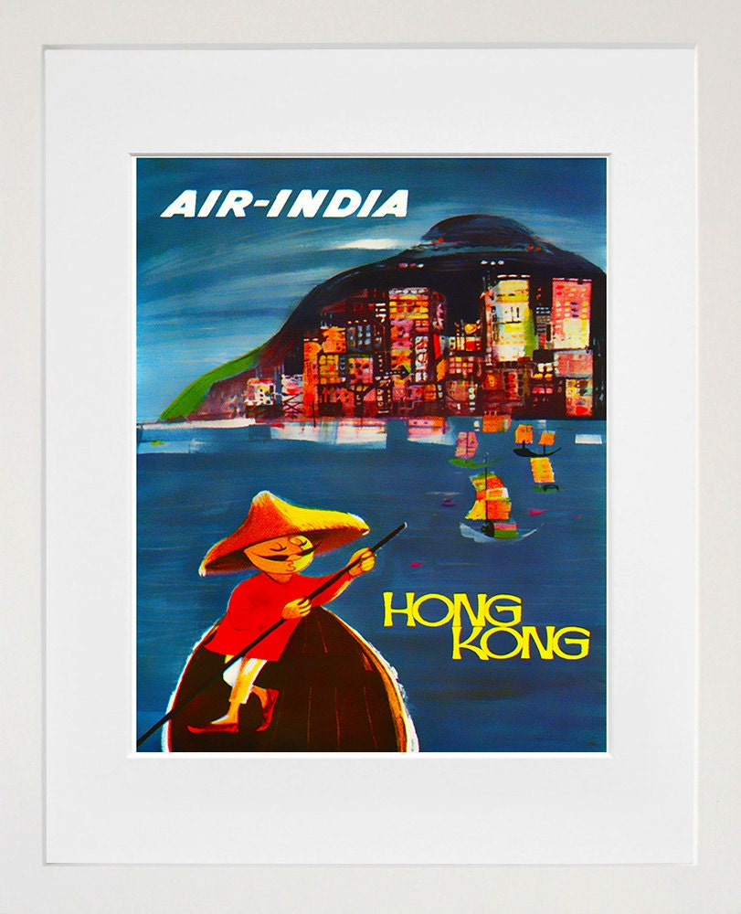 Hong Kong Art Print Travel Home Decor Poster Xr118 By Blivingstons