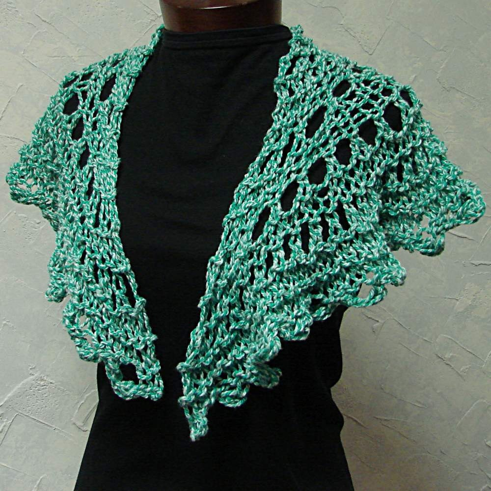Pattern for Shawl Quick Lace Hand Knit Shawl by TerrificCreations