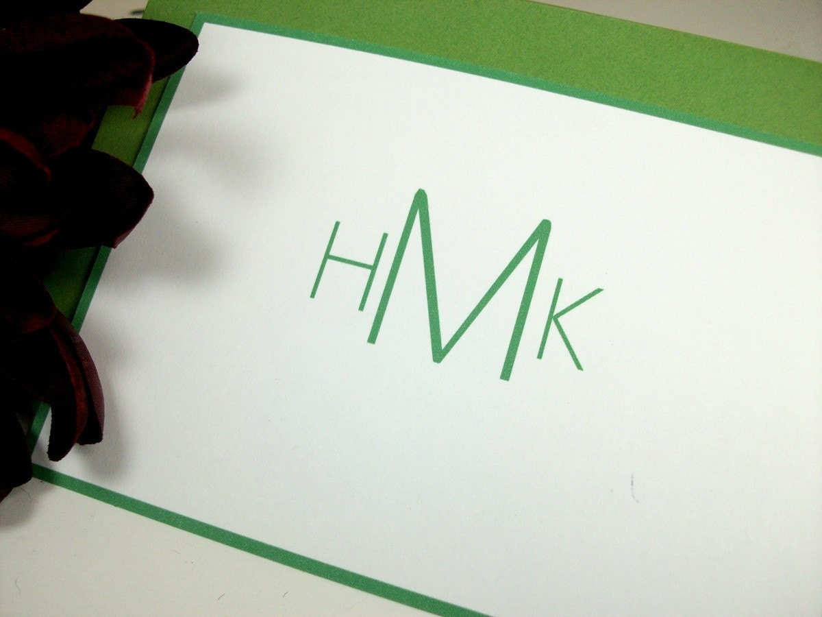 Modern Monogram Stationery