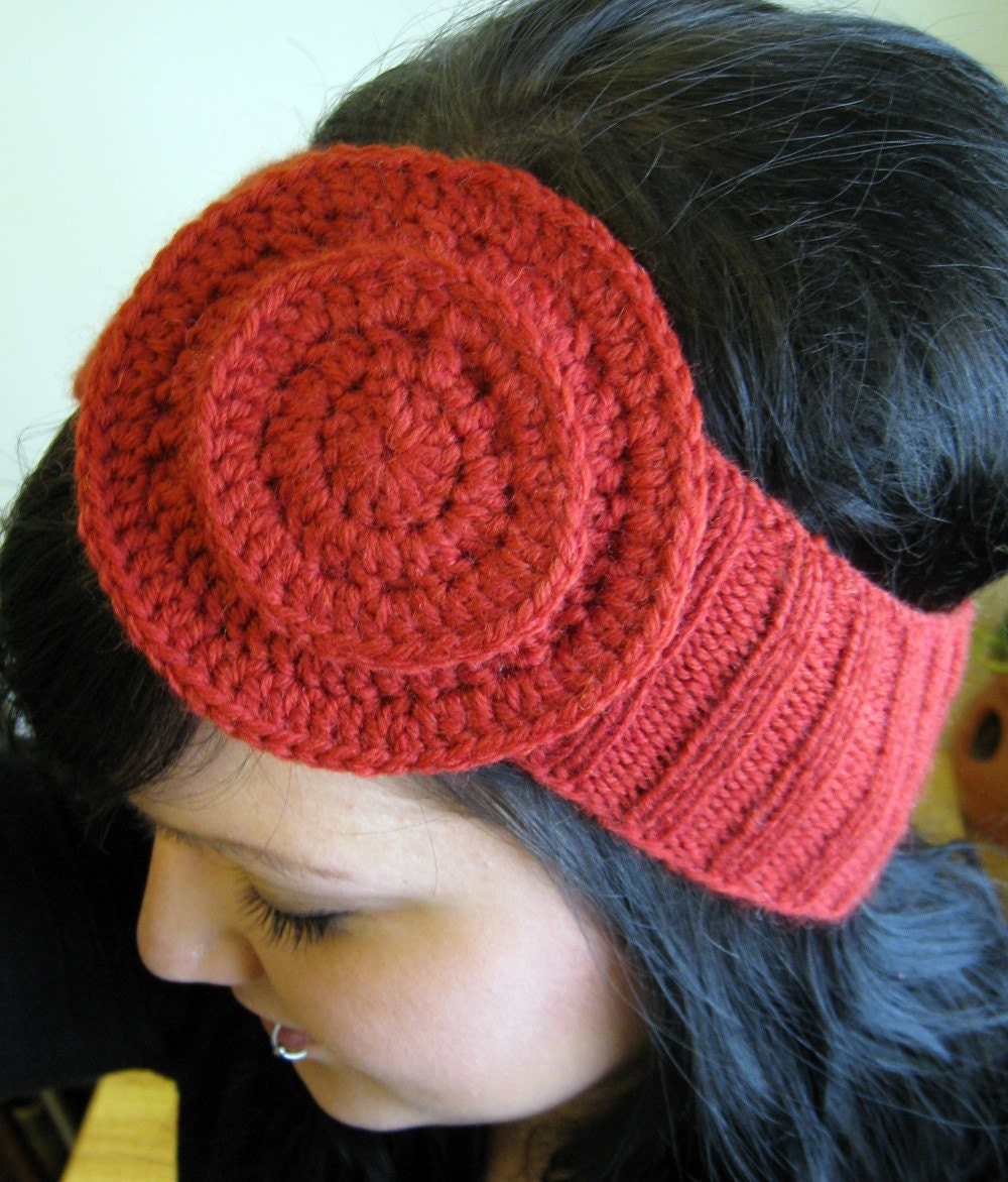 The Sophie Headband/Earwarmer in Rust