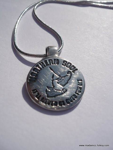 Ska'd Soul - Keep the Faith/ Soul Shoes silver pendant necklace