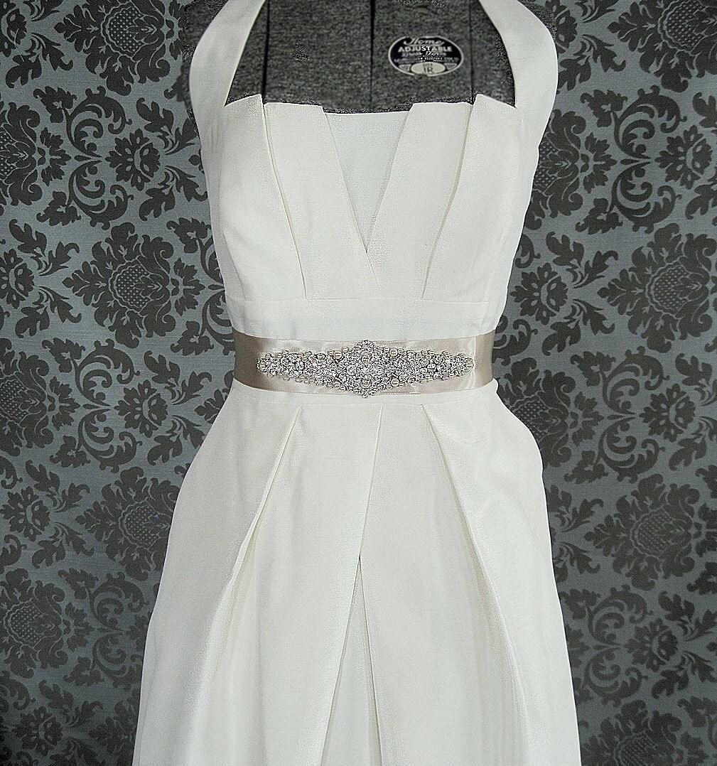 Lovely rhinestone and pearl bridal sash