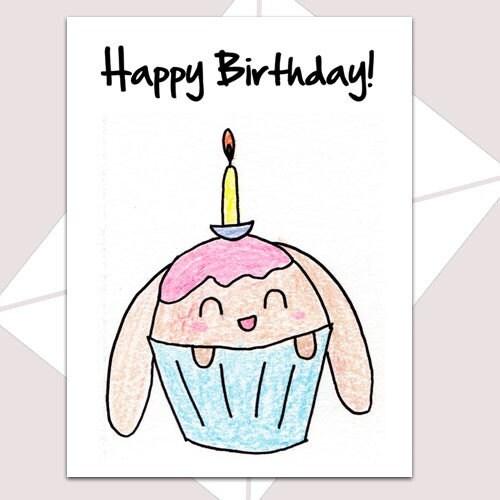 Cupcake Bunny Card