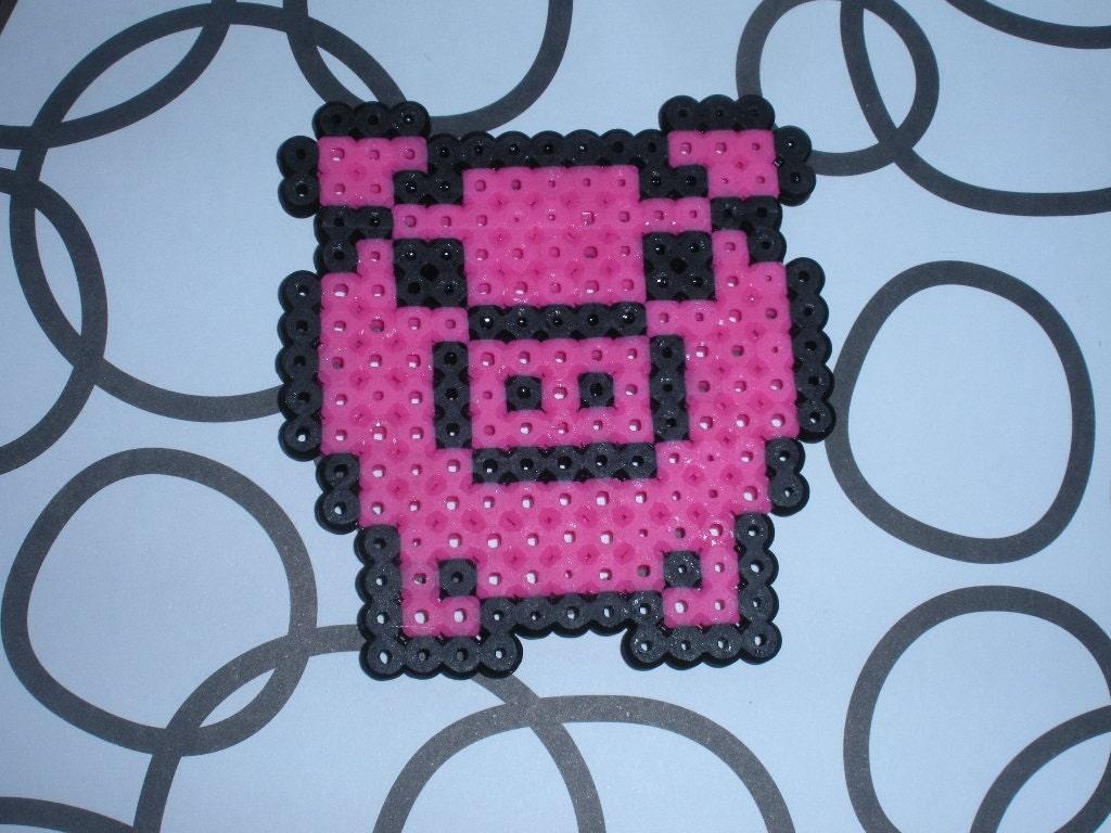 perler bead pig by socraftastic on etsy