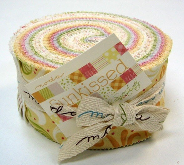Sunkissed Jelly Roll by Sweetwater for Moda Fabrics, 40 2.5 inch strips