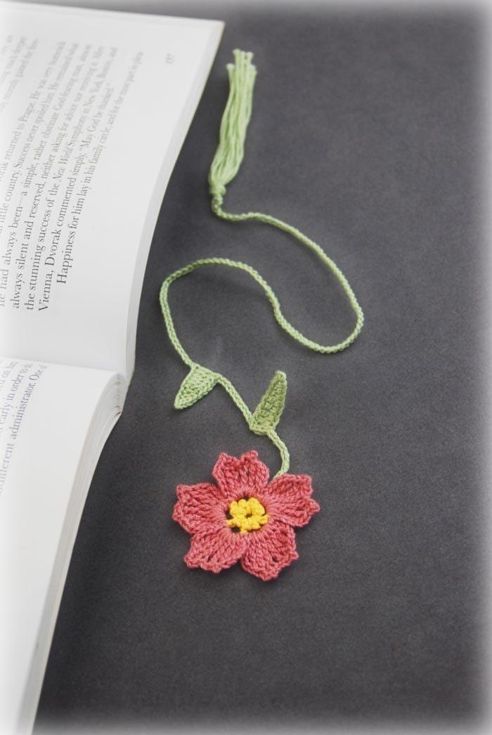 bookmark, primrose, rose, pink, handmade, gift