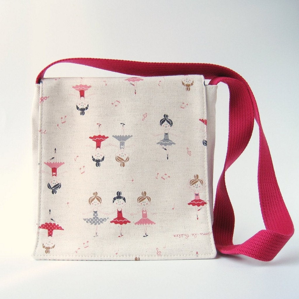 Toddler Messenger Bag - Ballerina Grey, Red, Raspberry