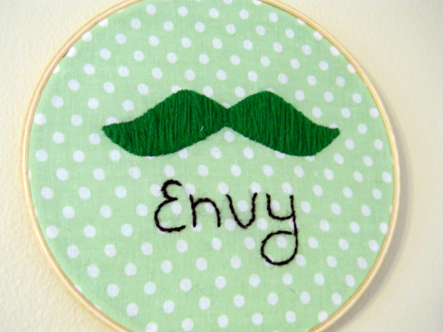 I Am Green With Mustache Envy